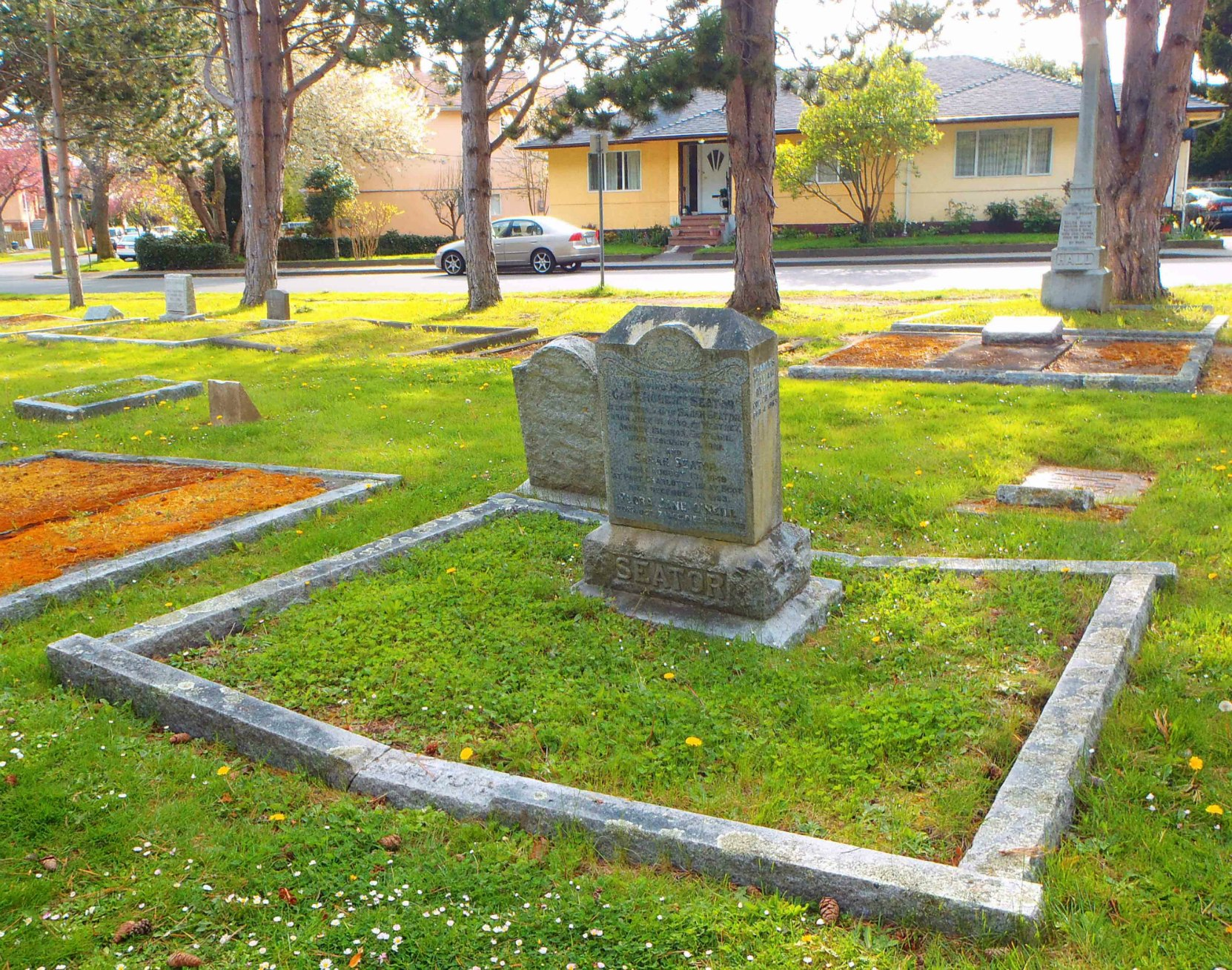 Charles William O'Neill, family burial plot, Ross Bay Cemetery, Victoria, B.C.