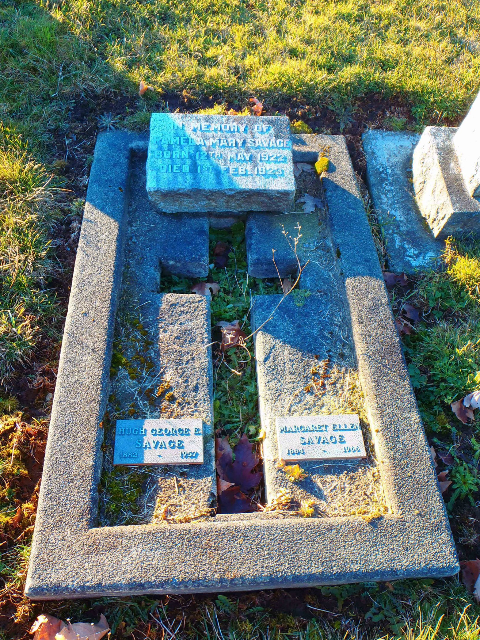 Hugh George Savage, family grave, St. Mary's Somenos cemetery, North Cowichan