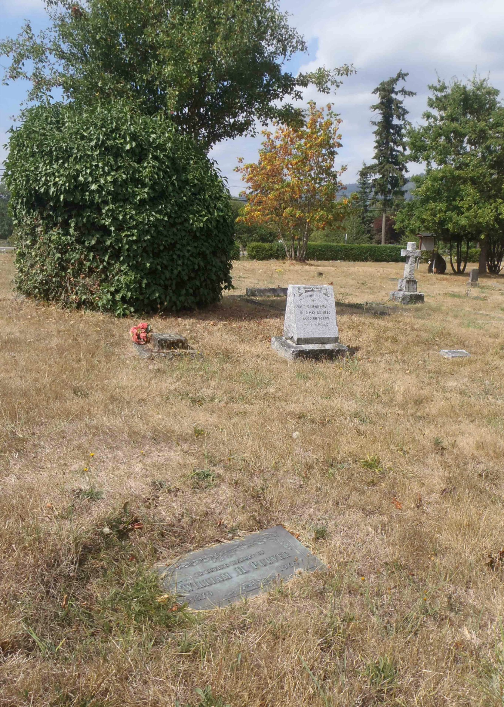 William Harrington Purver grave, St. Mary's Somenos cemetery, North Cowichan