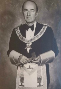 Gordon Maurice Berry as Worshipful Master of Temple Lodge, No.33