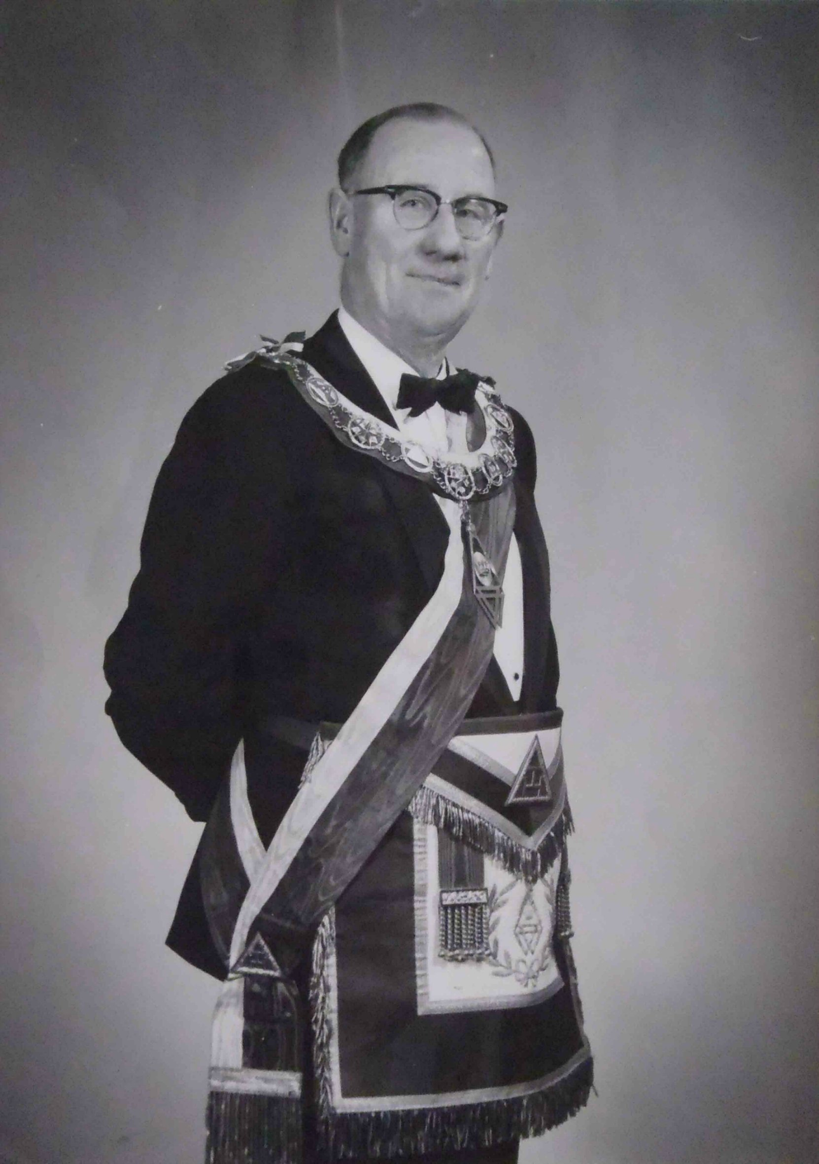John Stanley Dyke, 1st Principal of Tzouhalem Chapter, No.26 in 1949