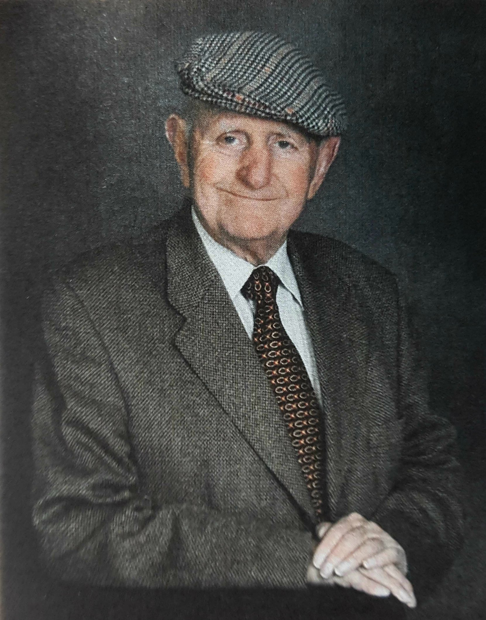 John Fenmor-Collins. This photo was used at John's Memorial Service in September 2017.